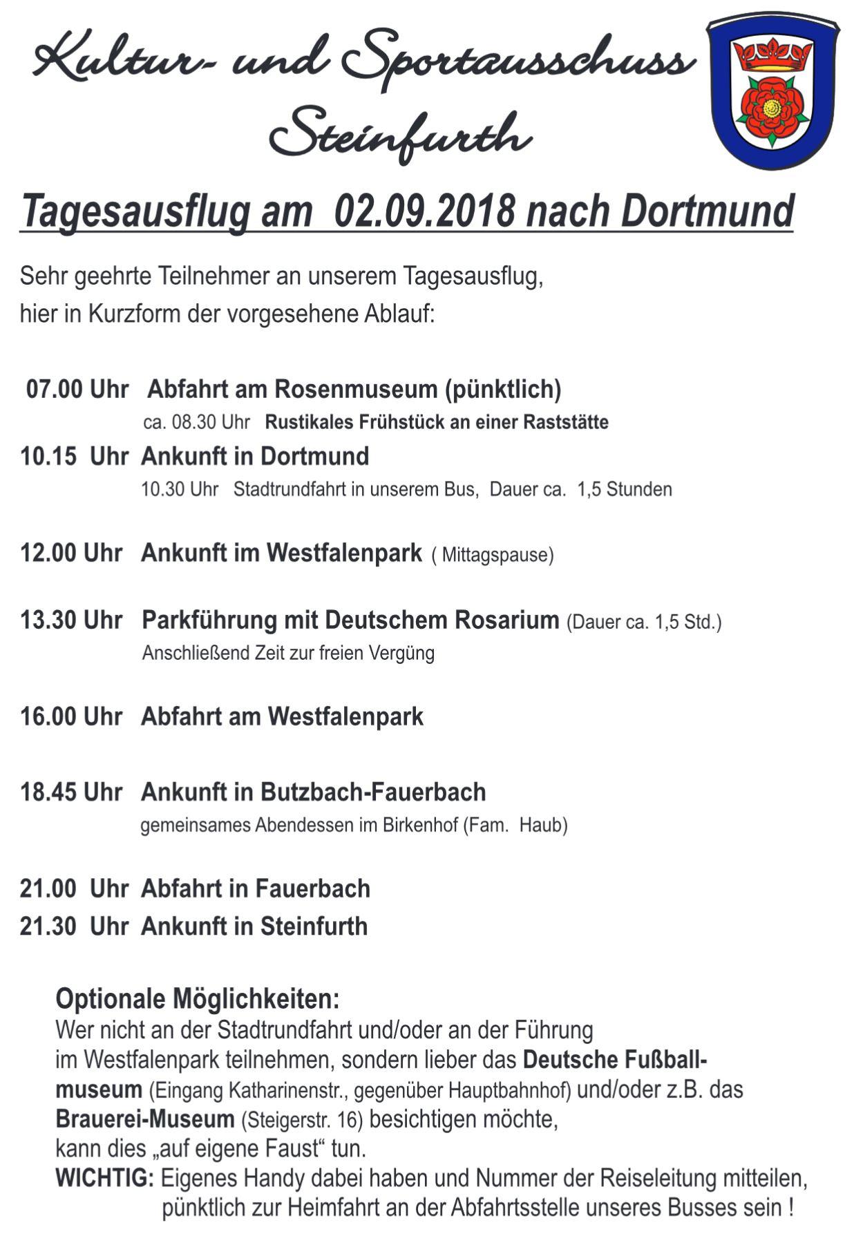 Ausflug KuSpo-Ausschuss @ Dortmund