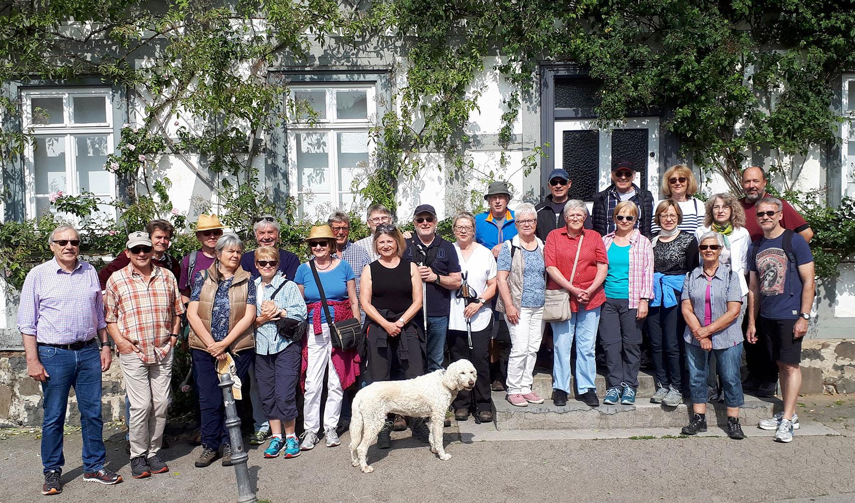 Gruppenfoto der Teilnehmer der Wanderung