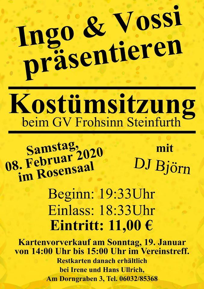 Faschingssitzung GV Frohsinn @ Rosensaal